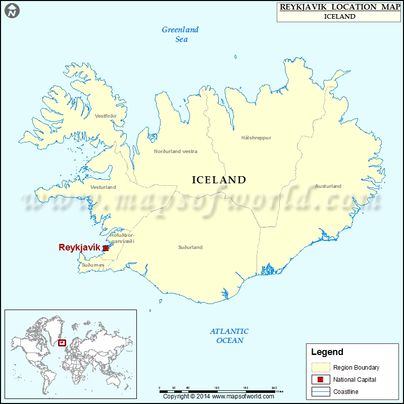 Where is Reykjavik Location of Reykjavik in Iceland Map