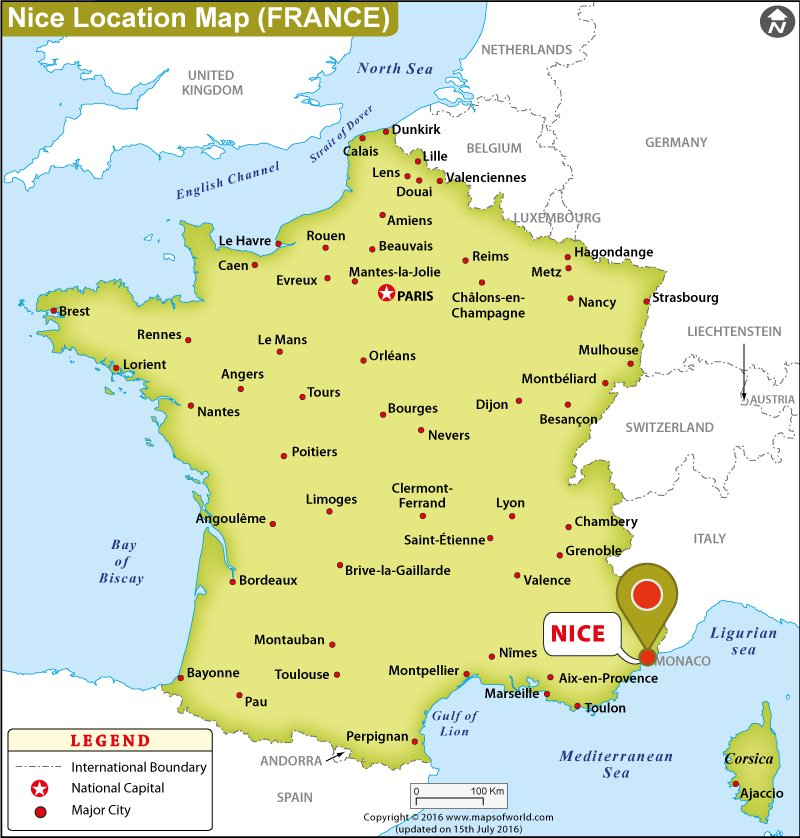 Where is Nice Located in France