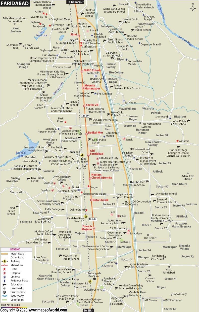 Faridabad Map
