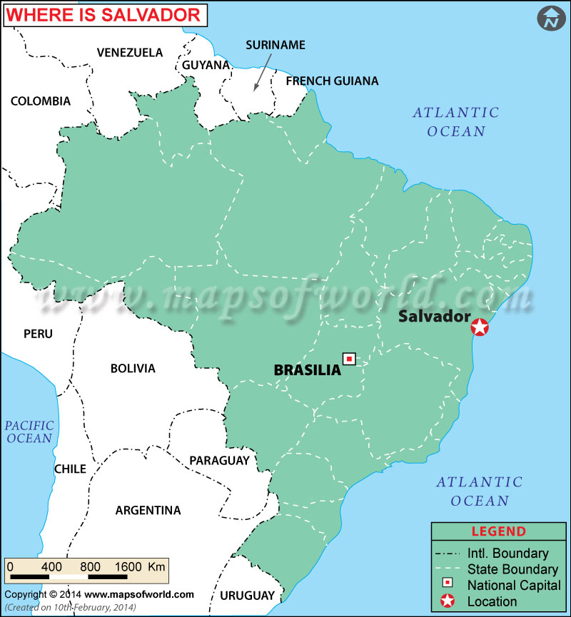 Where is Salvador Location of Salvador in Brazil Map