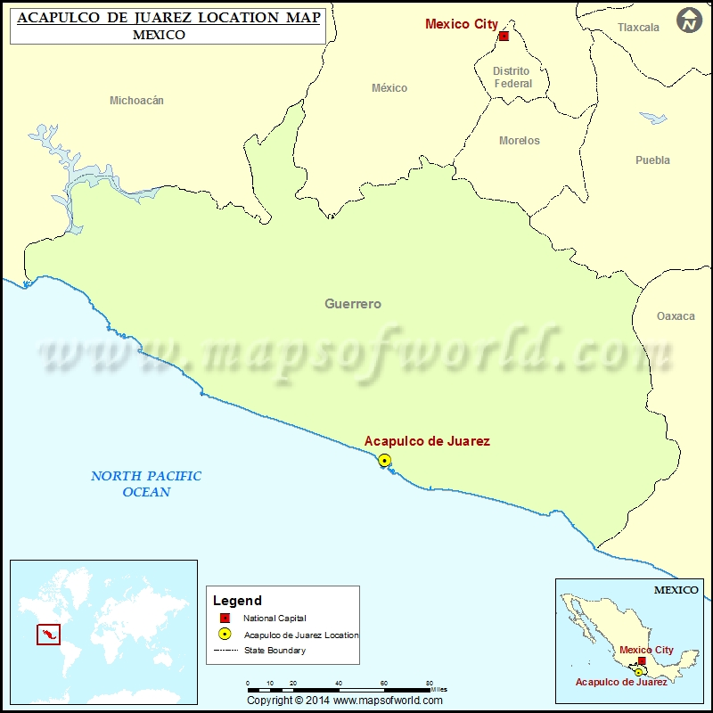 Where is Acapulco de Juarez | Location of Acapulco de Juarez ...