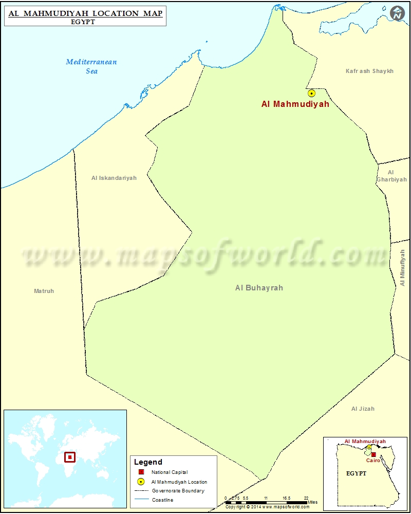 Where is Al Mahmudiyah Location of Al Mahmudiyah in Egypt Map
