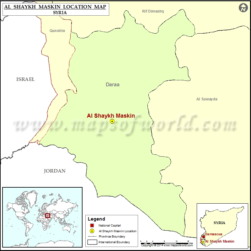 Where is al shaykh maskin location of al shaykh maskin in syria map where is al shaykh maskin sciox Images