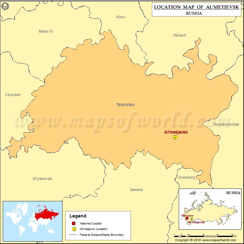 Where is Almetjevsk