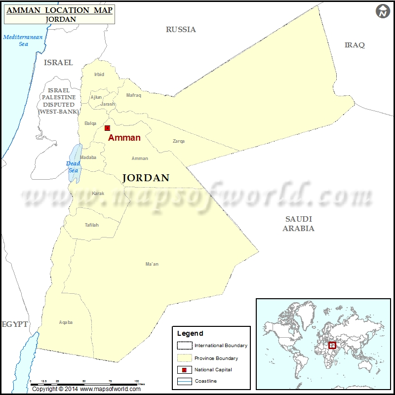 Where Is Amman Location Of Amman In Jordan Map - Where is jordan located