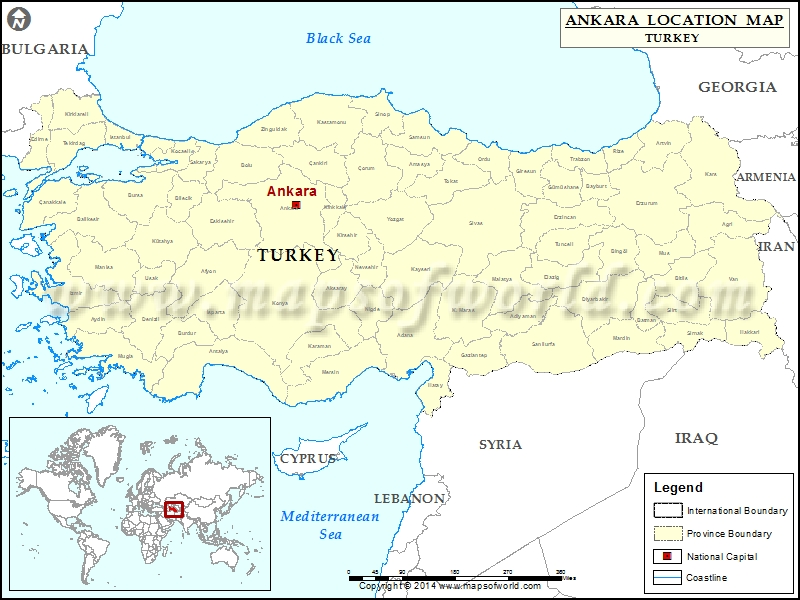 Where is Ankara Location of Ankara in Turkey Map