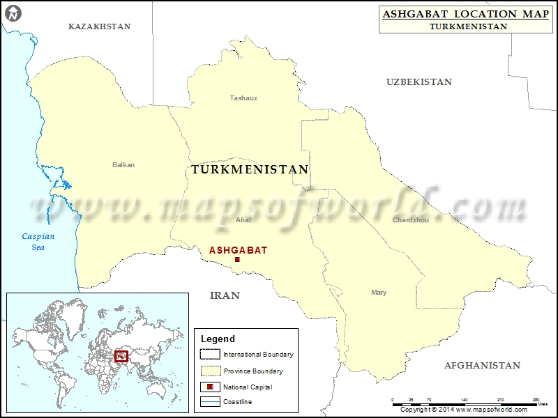 Where is Ashgabat