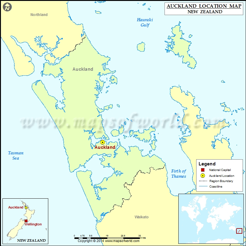 Where is Auckland | Location of Auckland in New Zealand Map