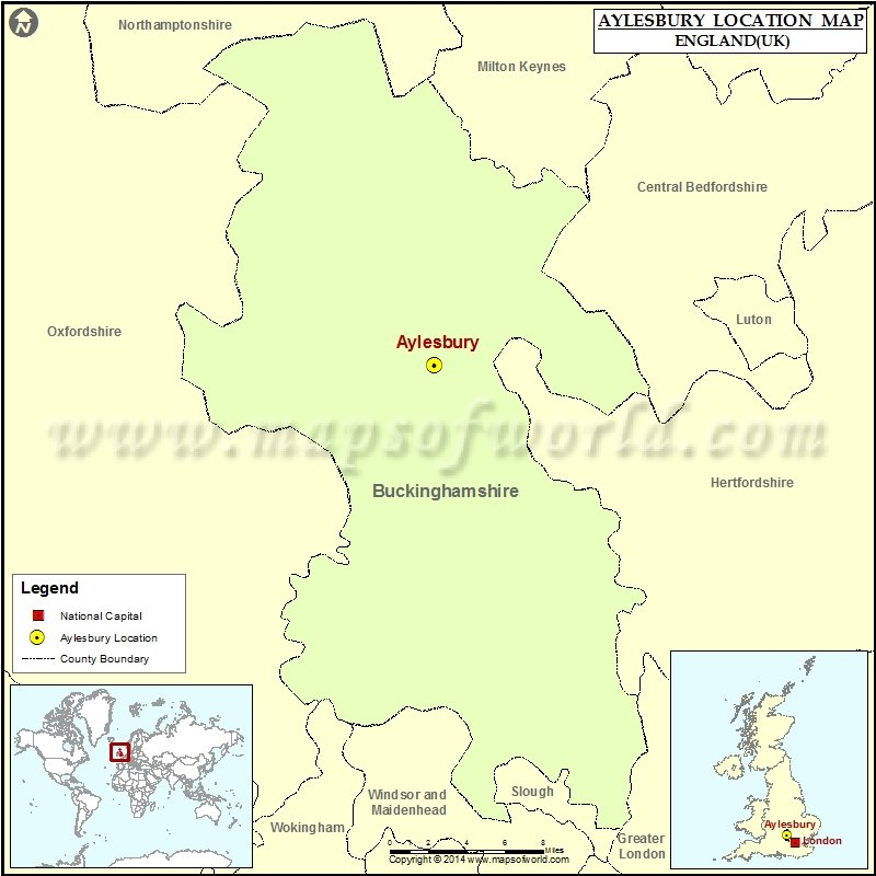 Where is Aylesbury Location of Aylesbury in England Map