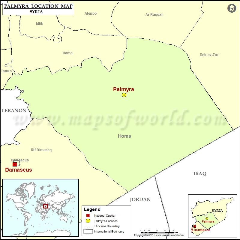 Where is Palmyra in Syria