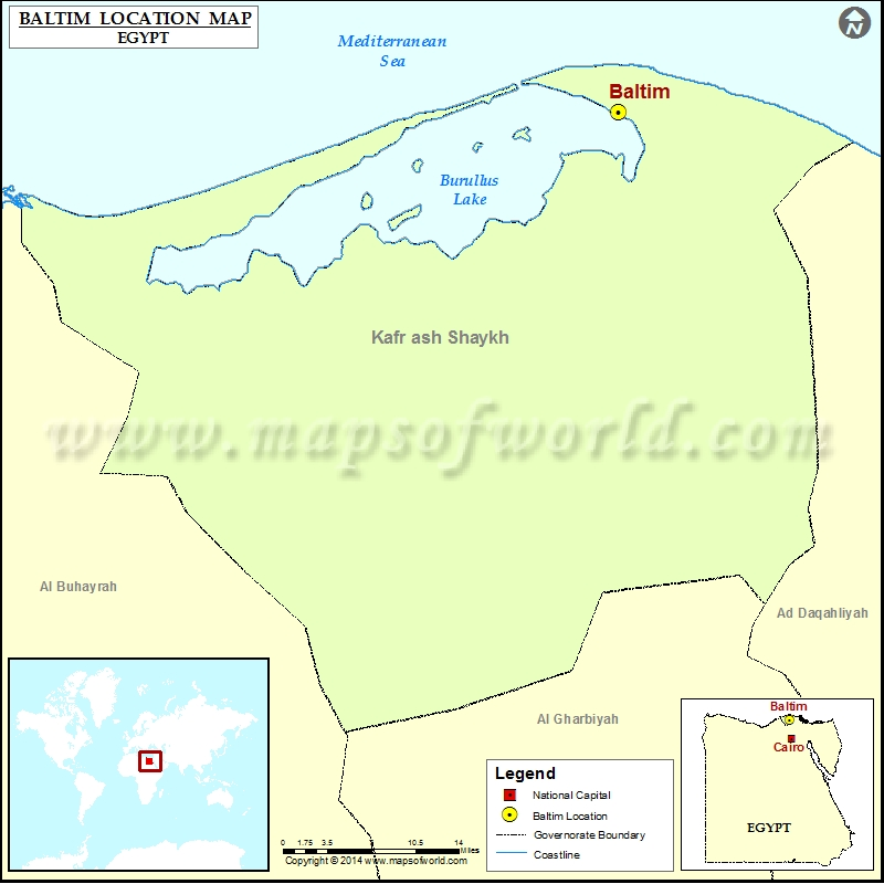 Where Is Baltim Location Of Baltim In Egypt Map