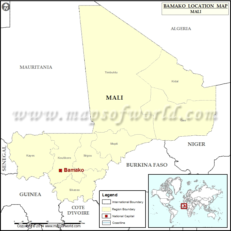 Where Is Bamako Location Of Bamako In Mali Map - Where is mali located