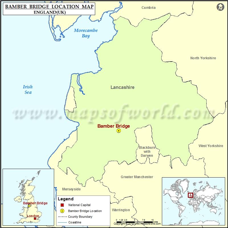 Where is Bamber Bridge