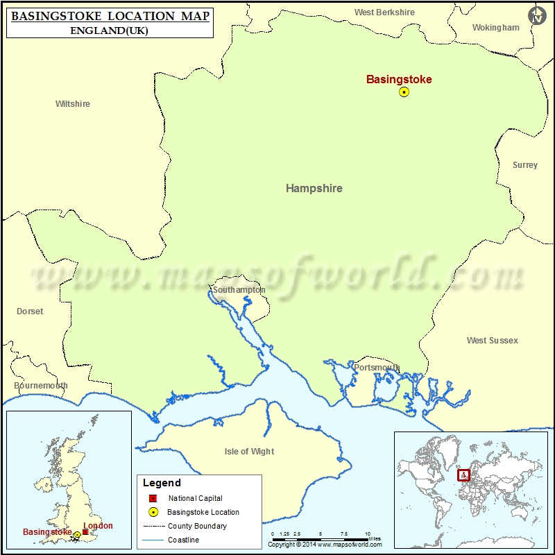 Where Is London Map.Where Is Basingstoke Location Of Basingstoke In England Map