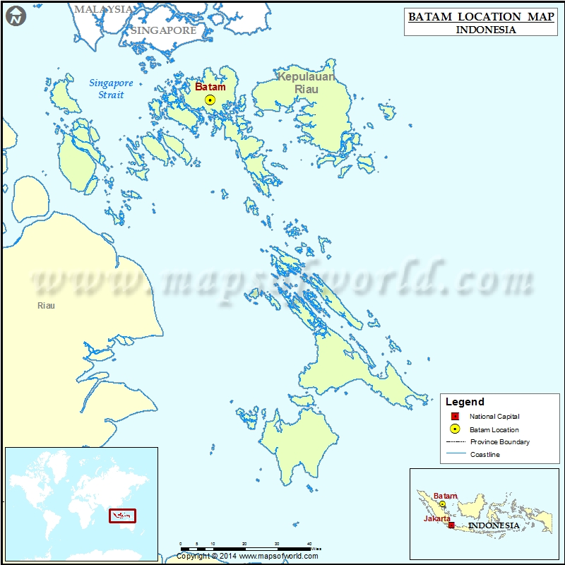 Where is Batam Location of Batam in Indonesia Map