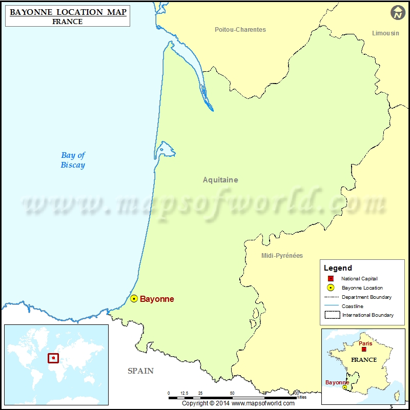 Where is Bayonne Located in France