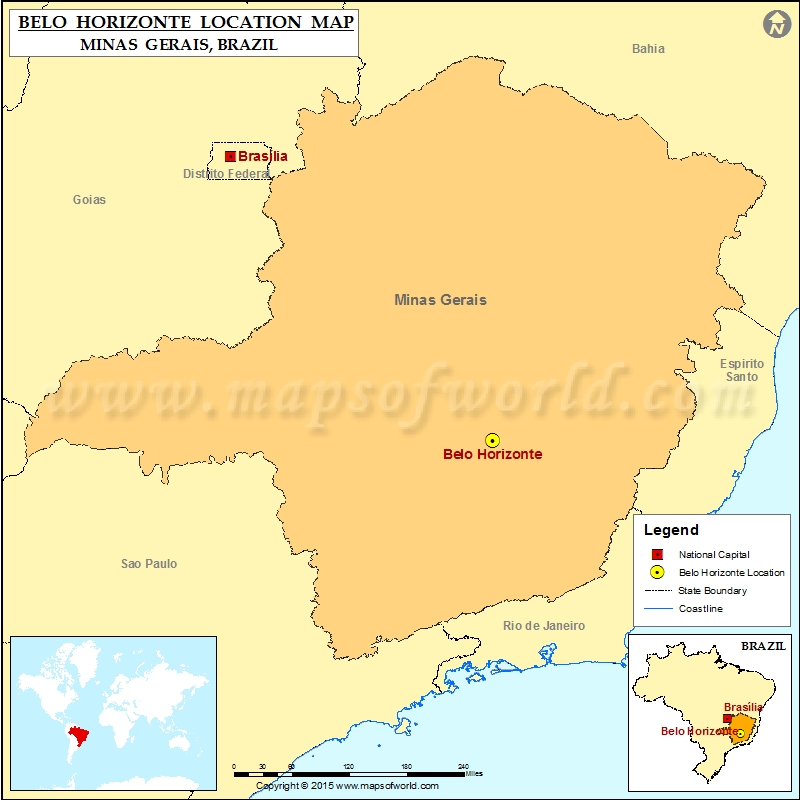 Where is Belo Horizonte Location of Belo Horizonte in Brazil Map