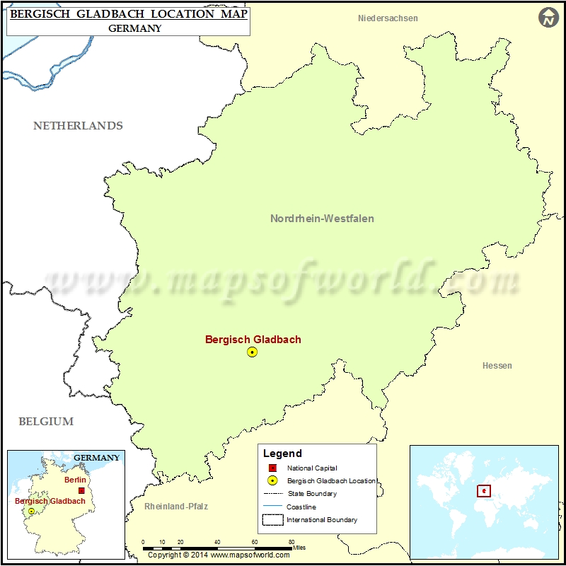 Where is Bergisch Gladbach Location of Bergisch Gladbach in