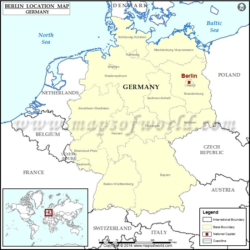 Where is Berlin Location of Berlin in Germany Map