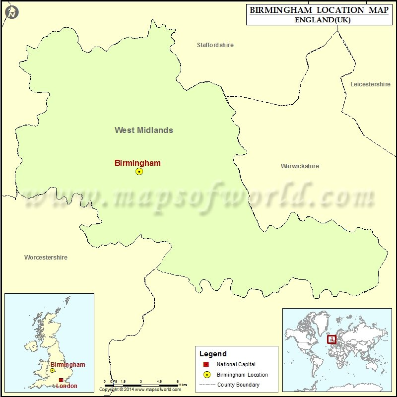 Map Of England Birmingham.Where Is Birmingham Location Of Birmingham In England Map