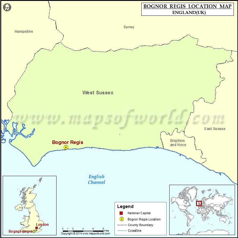 Where is Bognor Regis Location of Bognor Regis in England Map