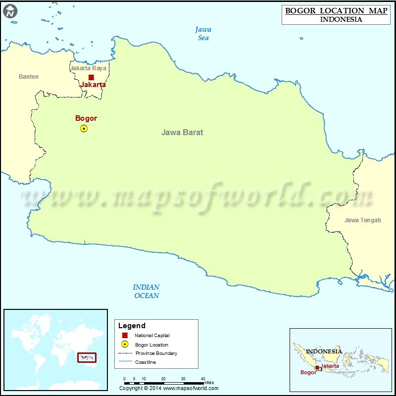 Where is Bogor Location of Bogor in Indonesia Map