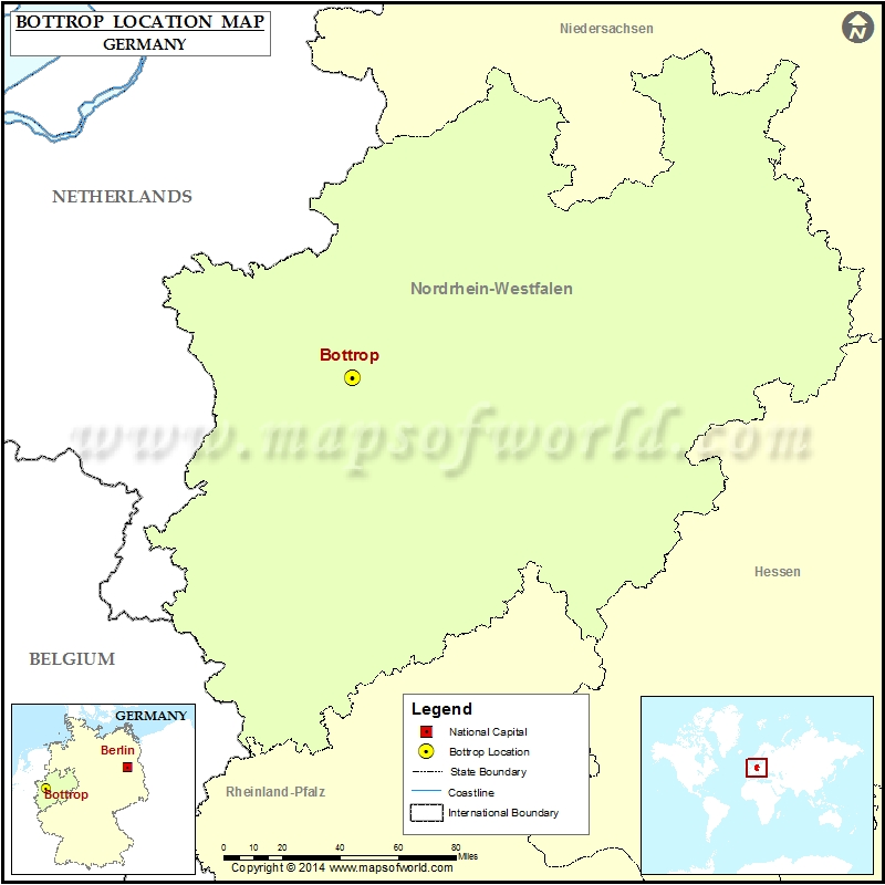 Where Is Bottrop Location Of Bottrop In Germany Map - Bottrop map