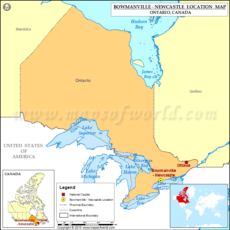 Where is Bowmanville - Newcastle