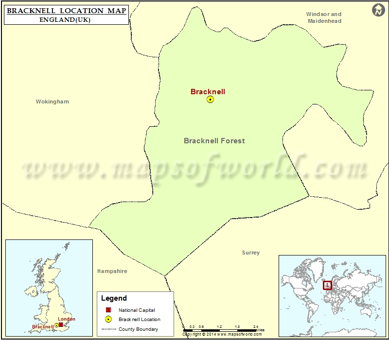 Where is Bracknell Location of Bracknell in England Map