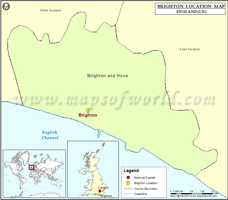 Map Of England Brighton.Where Is Brighton Location Of Brighton In England Map
