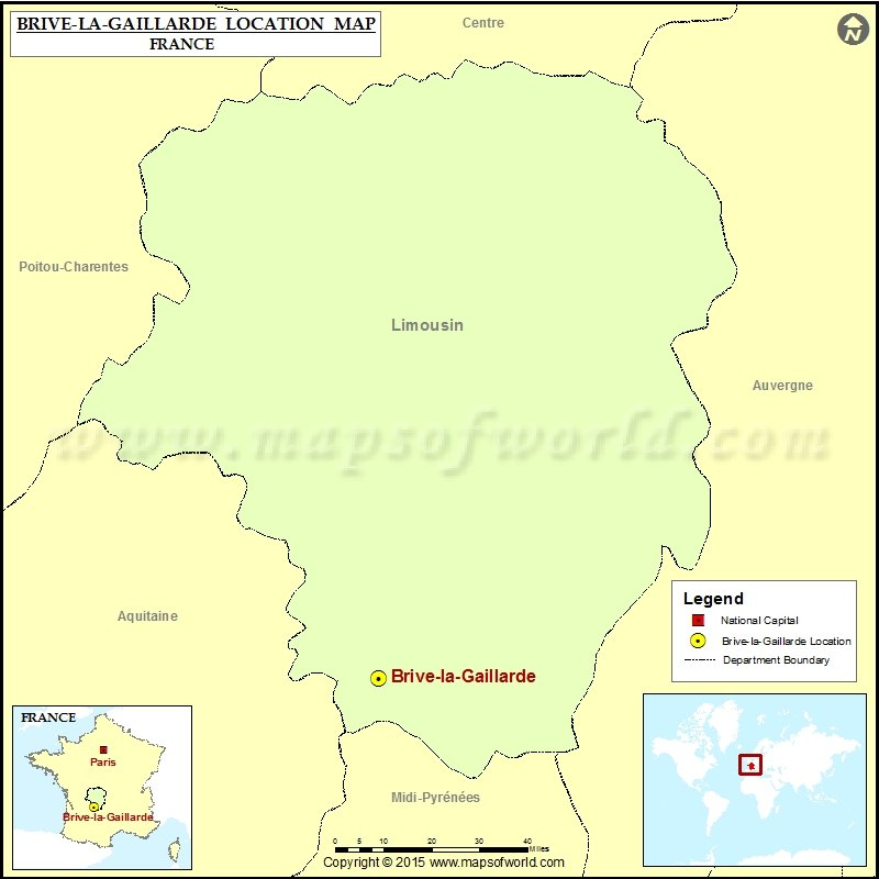 Brive France Map.Where Is Brive La Gaillarde Located In France