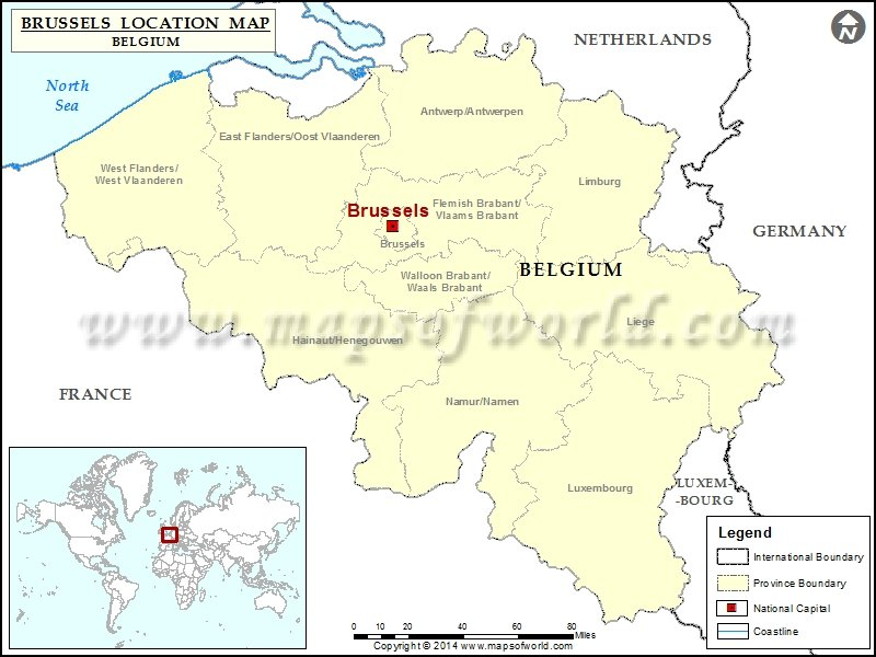 Where Is Brussels Location Of Brussels In Belgium Map - Brussels on world map