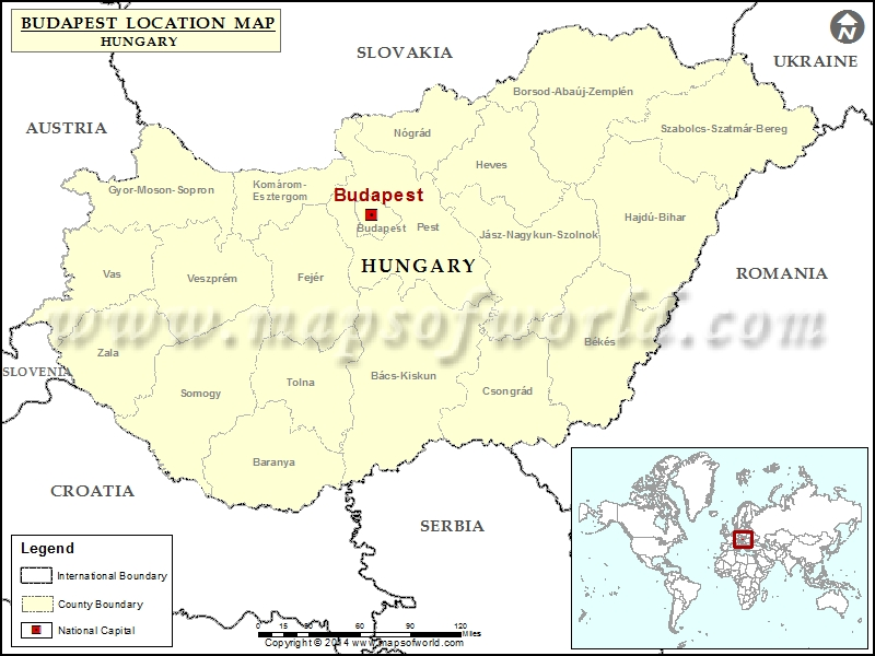 Where Is Budapest Location Of Budapest In Hungary Map - Which continent is austria located