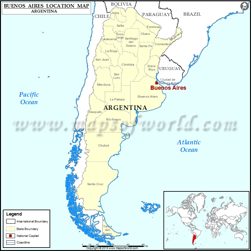 Buenos Aires Location On World Map.Where Is Buenos Aires Location Of Buenos Aires In Argentina Map