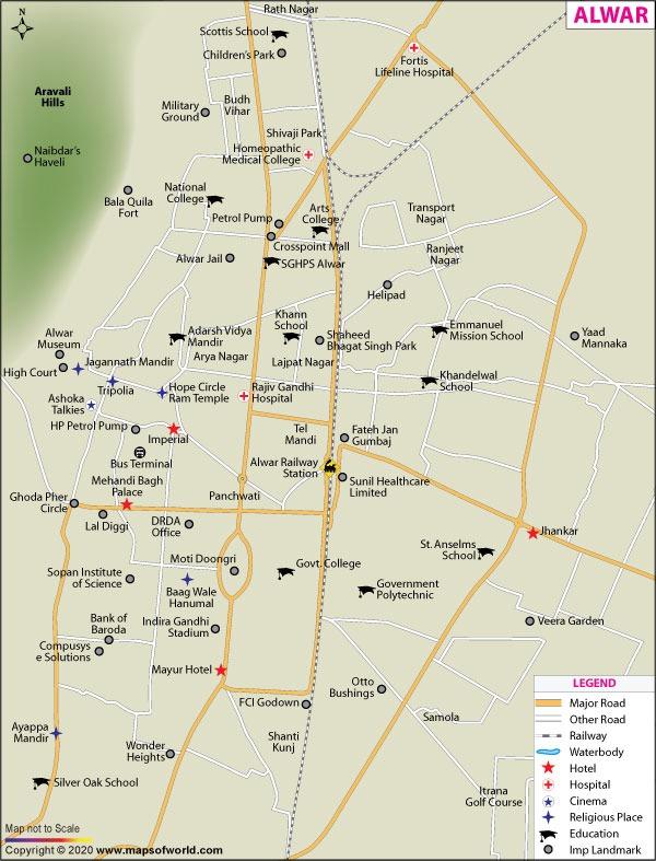 Alwar Map