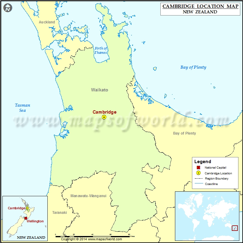 Where Is Cambridge Location Of Cambridge In New Zealand Map - Where is cambridge