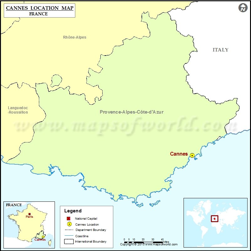 Where is Cannes Located in France