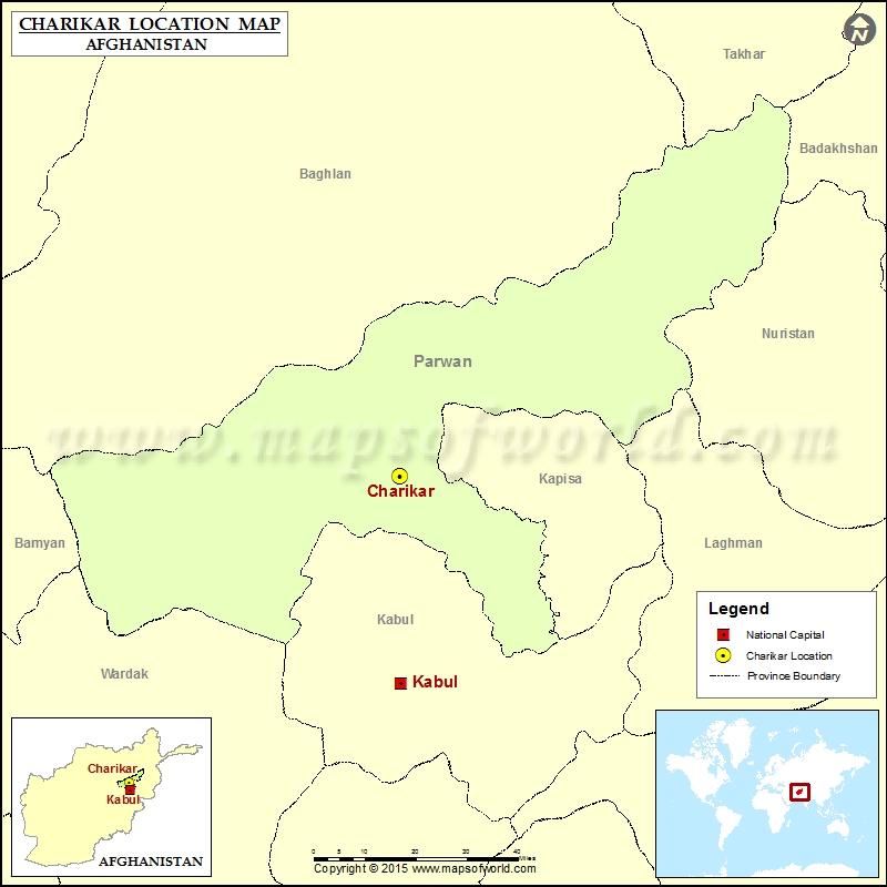 Where Is Charikar Located In Afghanistan - Charikar map