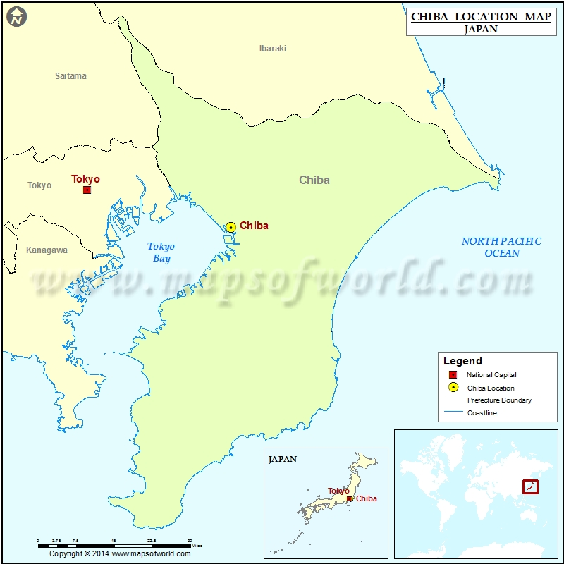 Where Is Chiba Location Of Chiba In Japan Map - Japan map chiba