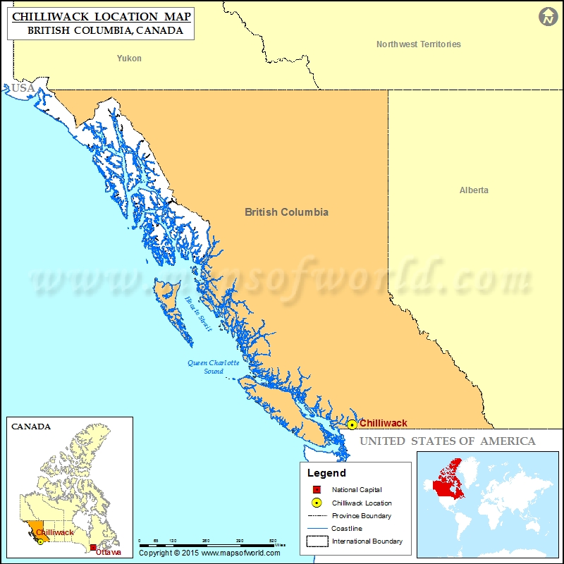 Map Of Chilliwack Canada Where is Chilliwack Located in Canada Map