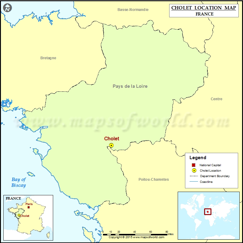 Where is Cholet Located in France