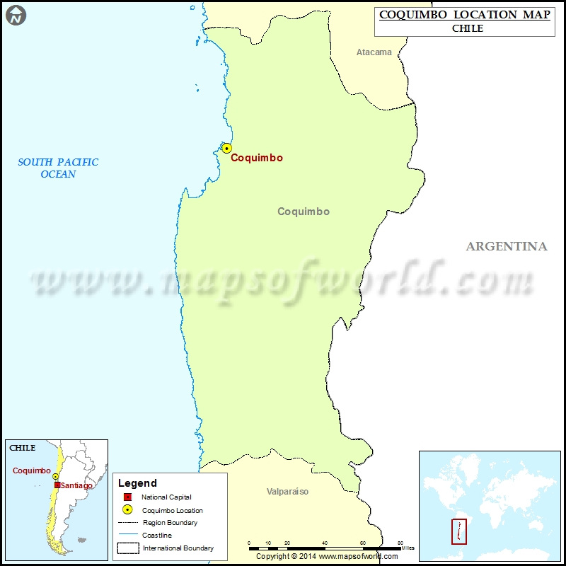 Where Is Coquimbo Location Of Coquimbo In Chile Map - Chile location
