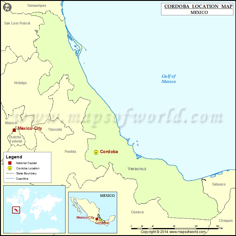 Where is Cordoba | Location of Cordoba in Mexico Map