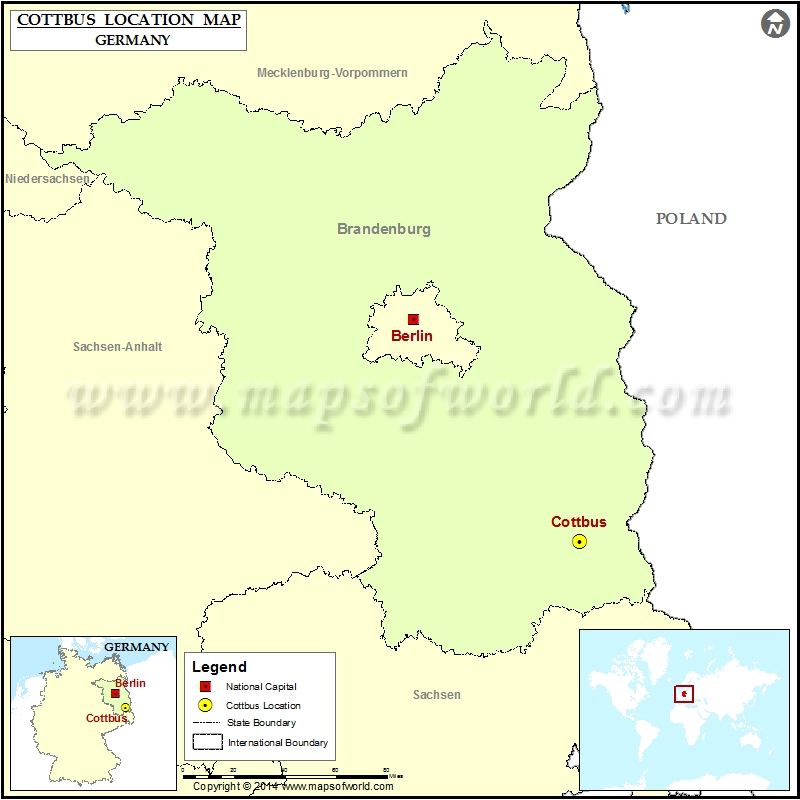 Where is Cottbus Location of Cottbus in Germany Map