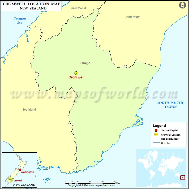 Map Of Cromwell New Zealand.Where Is Cromwell Location Of Cromwell In New Zealand Map