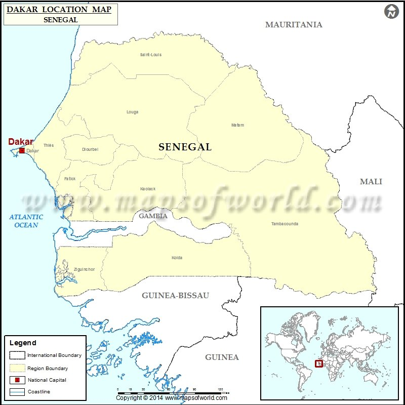 Where is dakar location of dakar in senegal map description map showing location of dakar in senegal gumiabroncs