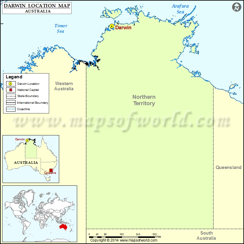 Darwin Map Of Australia.Where Is Darwin Location Of Darwin In Australia Map