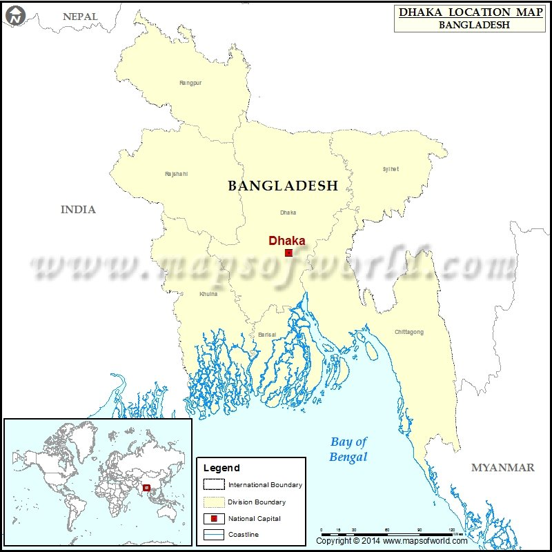 Where is Dhaka | Location of Dhaka in Bangladesh Map