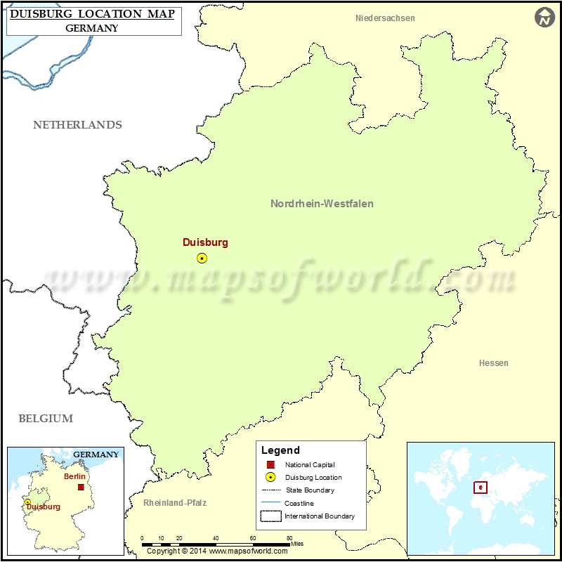 Where is Duisburg Location of Duisburg in Germany Map