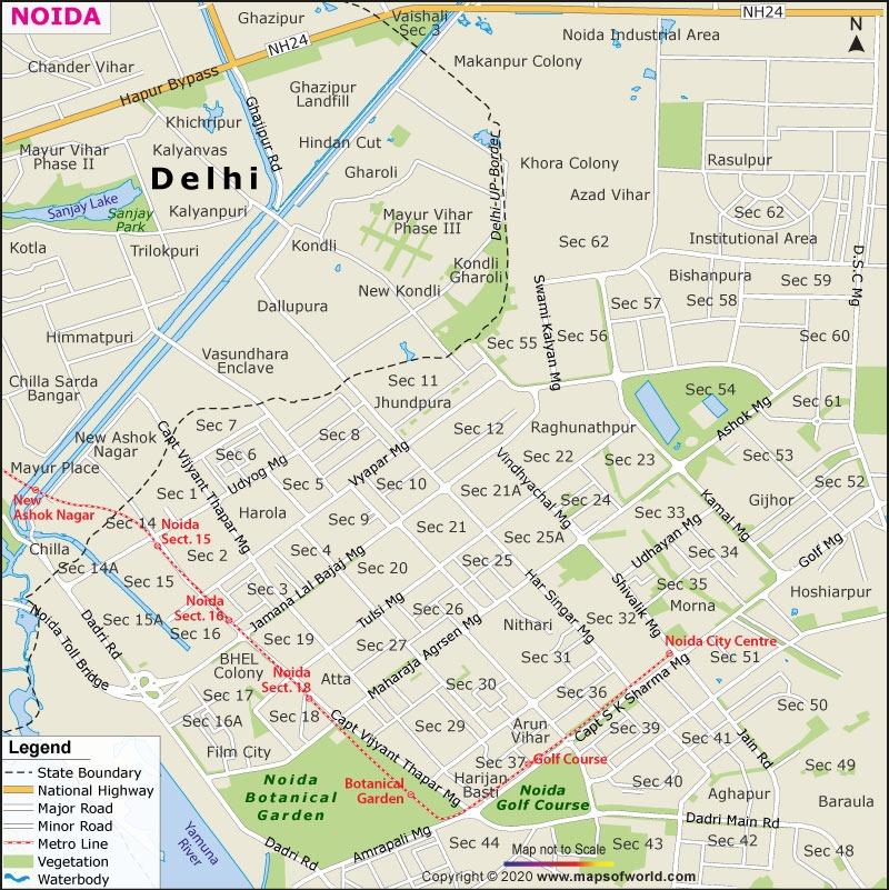 Noida Map